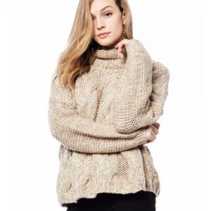 Anthropologie Moon River Metallic Knit Sweater